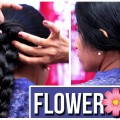 Flower-Bun-Hairstyle-for-women-Ladies-Fashion