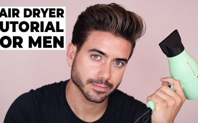HOW-TO-USE-A-HAIR-DRYER-BLOW-DRYER-Mens-Hairstyle-Tutorial-2018