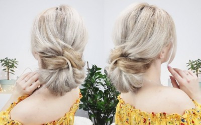 LAZY-EVERYDAY-HAIRSTYLE-QUICK-AND-EASY-UPDO-FOR-LONG-OR-MEDIUM-HAIR-Awesome-Hairstyles