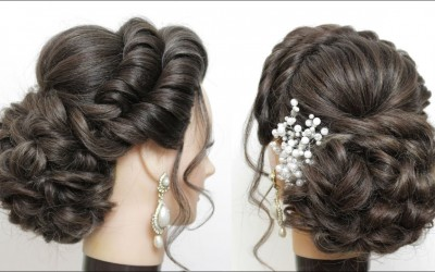 New-Bridal-Hairstyle-For-Long-Hair.-Messy-Bun-Updo-Tutorial