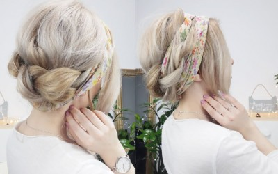 SUPER-EASY-HAIRSTYLE-BRAIDED-UPDO-WITH-A-SCARF-FOR-LONG-MEDIUM-OR-SHORT-HAIR-Awesome-Hairstyles-