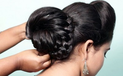 Beautiful-hairstyle-for-wedding-Puff-hairstyle-for-party-Ladies-bun-hair-style-PUFF-Hairstyles