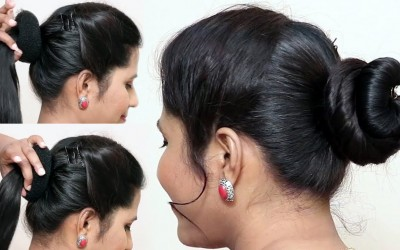 Best-Hairstyle-for-party-2019-Easy-Beautiful-bun-hairstyles-for-girls-Hairstyle-girls