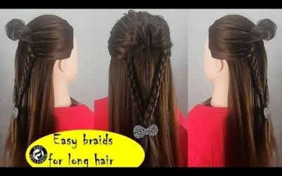 Braided-long-hairstyles-2019-How-to-braids-own-hair-School-hairstyles-for-girls