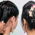 Celebrity-hairstyles-Wedding-hairstyles-Braided-bun-hairstyle-Juda-hairstyle-Party-hairstyle