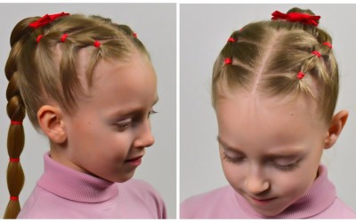 EASY-Everyday-hairstyle-with-PIGTAILS-and-ELASTICS-Hairstyles-for-little-girls-74
