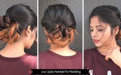 Easy-Low-Updo-Hairstyle-For-Wedding-For-Medium-To-Long-Hair-Heatless-Hairstyle
