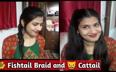 Hairstyle-for-long-hair-simple-easy-Two-side-Cattail-and-Fishtail-Braid-Part-2