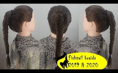 How-to-Fishtail-Braid-Your-Hair-ponytail-braided-long-hairstyles-school-hairstyles-2020
