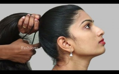 How-to-do-Beautiful-Braid-for-Long-Hair-Party-Hairstyles-Easy-Puff-Hairstyles-Hair-style-girl