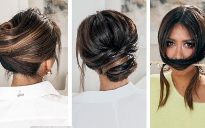 LAZY-but-KEEP-IT-ELEGANT-UPDOS-2019-SPRING-HAIRSTYLES-FOR-LONG-MEDIUM-HAIR
