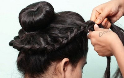 New-Wedding-Bun-Hairstyle-with-Trick-Trending-Hairstyle-Easy-Bun-Hairstyles