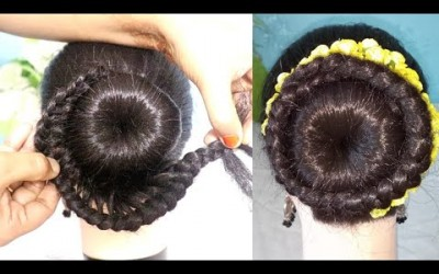 New-bun-hairstyle-for-wedding-and-party-Party-hairstyle-hair-style-girl-updo-hairstyle