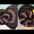 Simple-Easy-Bun-Hairstyle-for-Beginners-Party-Hairstyle-for-MediumLong-Hair-hairstyles