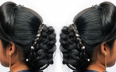 Very-easy-hairstyle-using-clutcher-with-trick-french-puff-hairstyle-french-roll-hairstyle