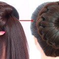 new-bun-hairstyle-for-wedding-and-party-trending-hairstyle-party-hairstyle-updo-hairstyle