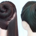 simple-and-easy-bun-hairstyle-for-summer-quick-hairstyle-cute-hairstyles-juda-hairstyle