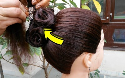 5-Mins-Hairstyle-for-wedding-Easy-Hairstyles-for-long-hair-Unseen-Party-hairstyle-2019-for-girls-1