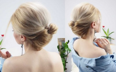 5MIN-PARTY-OR-EVERYDAY-FRENCH-TWIST-BUN-HAIRSTYLE-FOR-MEDIUM-OR-LONG-HAIR-Awesome-Hairstyles-