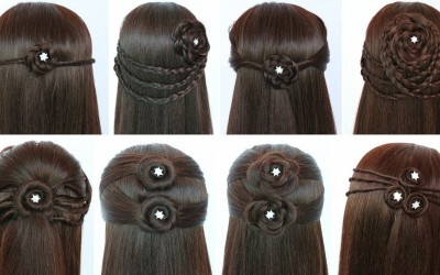 8-quick-and-easy-hairstyles-for-open-hair-hairstyles-for-girls-hair-style-girl-simple-hairstyle