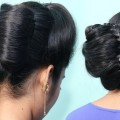 Big-French-Bun-Hairstyle-with-New-Trick-New-French-Roll-Hairstyles-Easy-Bun-Hairstyles-2019-1