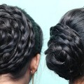 Cute-Easy-Bun-Hairstyles-for-Long-Hair-Latest-Rope-Braided-Juda-Hairstyle-Bun-Hairstyles
