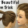 Most-Beautiful-Hairstyle-for-Wedding-or-party-Easy-Hairstyles-Bun-Hairstyle-with-Trick