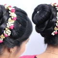 Most-Beautiful-Trending-Bun-Hairstyle-for-Weddingpartyfunction-Easy-Hairstyles-Bun-Hairstyle-1