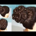 Most-Beautiful-Trending-Rose-Bun-Hairstyle-for-Wedding-or-party-Easy-Hairstyles-Bun-Hairstyle