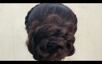 Most-Easy-hairstyle-for-long-hair-girls-hairstyle-for-party-or-wedding-juda-hairstyle