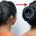 Party-Wear-Hairstyle-For-Long-Hair-Easy-Part-Hairstyle-For-Girls-Bun-Hairstyles