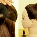 Simple-High-Bun-Juda-Hairstyle-for-Beginners-Updo-Hairstyle-Quick-Hairstyle-KGS-Hairstyles
