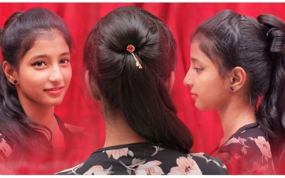 Stylish-Ponytail-Hairstyle-Quick-Easy-Girls-Hairstyles-Ladies-Fashion
