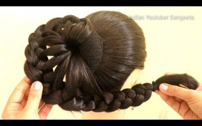 beautiful-juda-hairstyle-for-wedding-and-party-trending-hairstyle-party-hairstyle-hairstyle