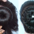 new-latest-juda-hairstyle-for-gown-party-weddings-function-wedding-guest-lehnga-bun-hairstyle