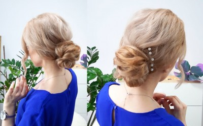 2-MINUTE-QUICK-AND-EASY-HAIRSTYLE-ELEGANT-BUN-FOR-MEDIUM-LONG-OR-SHORT-HAIR-Awesome-Hairstyles-