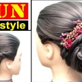 3-easy-simple-everyday-hairstyles-bun-hairstyle-everyday-easy-hairstyle-trending-hairstyles