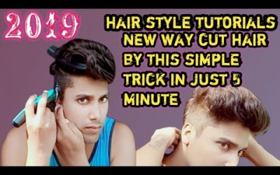 Mens-hair-style-trimming-hair-by-self-at-home-using-trimmer