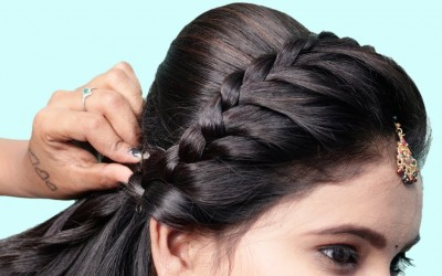 Simple-cute-hairstyle-with-trick-Wedding-hairstyles-hairstyles-New-hairstyles-for-girls