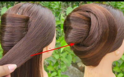 Very-Very-Easy-updo-For-Short-Hair-Elegant-Juda-Hairstyle-Party-Hairstyle-StyleLikeMe-