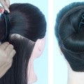 new-hairstyle-using-banana-clutcher-easy-hairstyles-simple-hairstyle-