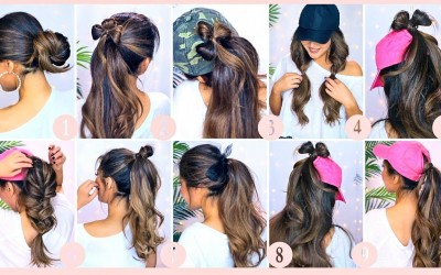 10-LAZY-HAIRSTYLES-for-SUMMER-2019-EASY-Updos-for-Work-Workouts-School-Girls-HEATLESS