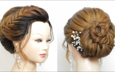 Braided-Bridal-Hairstyle-For-Long-Hair.-Wedding-Prom-Updos