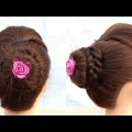 New-braided-bun-hairstyle-for-wedding-or-function-Short-hairstyles-Cute-hairstyles