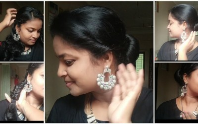 4-Easy-collage-hairstylesfor-working-womens-collage-girls-house-wifes-in-telugu