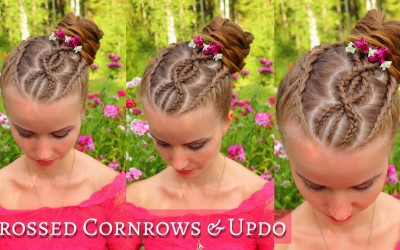 Crossed-Cornrow-Braids-into-Updo-Hairstyle-Updo-Hairstyle-for-Long-Hair