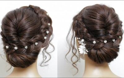 New-Easy-Bridal-Hairstyle-For-Long-Hair-Tutorial.-Simple-Wedding-Updo