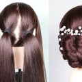 Party-Bun-Hairstyle-With-a-Trick-bridal-hairstyle-messy-bun-short-hairstyles-prom