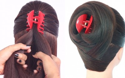 new-latest-juda-hairstyle-with-clutcher-cute-hairstyles-new-hairstyles-ladies-hair-style
