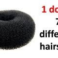 7-easy-hairstyles-in-1-donut-prom-hairstyles-cute-hairstyles-juda-hairstyles-hairstyle